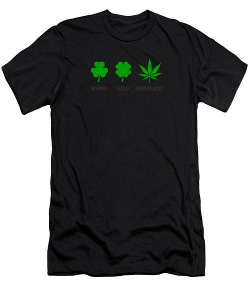 Cannabis   Hemp  420   Marijuana  Pattern Men's T-Shirt (Athletic Fit)