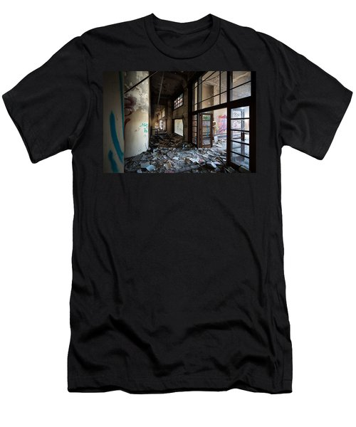 Demolished School Building- Urban Decay Men's T-Shirt (Athletic Fit)