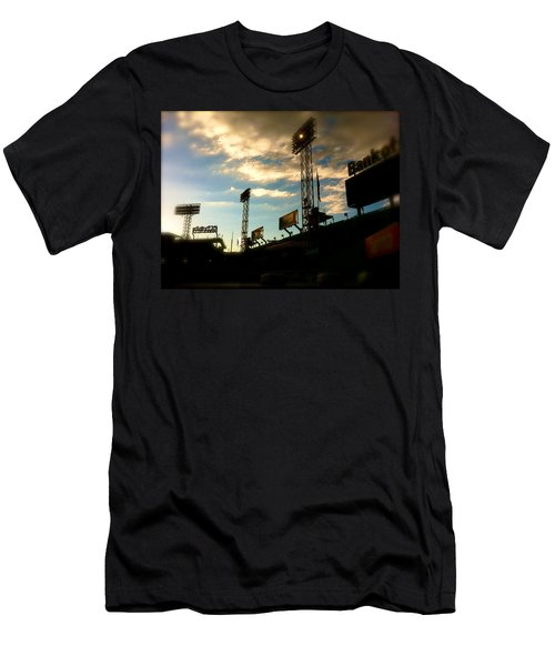 Fenway Lights Fenway Park David Pucciarelli  Men's T-Shirt (Slim Fit) by Iconic Images Art Gallery David Pucciarelli