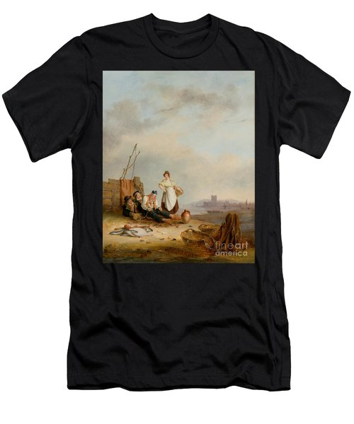 Fisherfolk On The Foreshore  Men's T-Shirt (Athletic Fit)