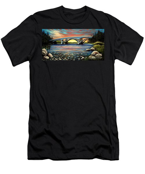 Folsom Bridge Men's T-Shirt (Athletic Fit)