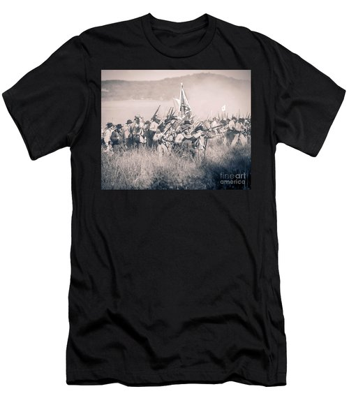 Gettysburg Confederate Infantry 9214s Men's T-Shirt (Athletic Fit)