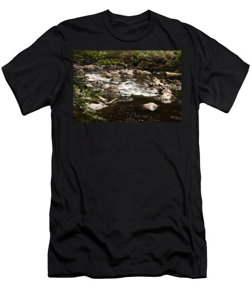Little Stream At The Hermitage Men's T-Shirt (Slim Fit) by Martina Fagan