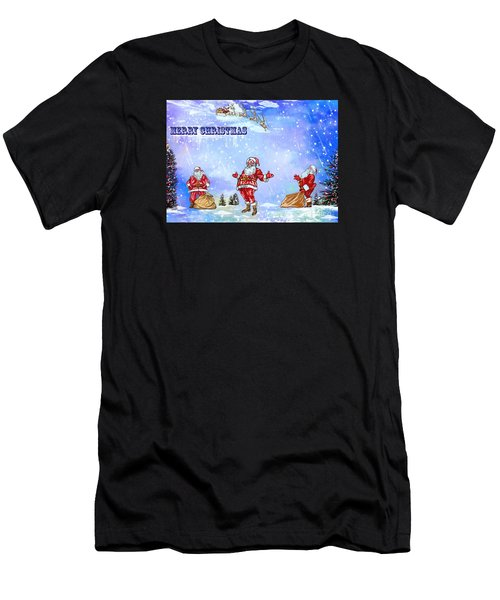 Merry Christmas To My Friends In The Faa Men's T-Shirt (Athletic Fit)