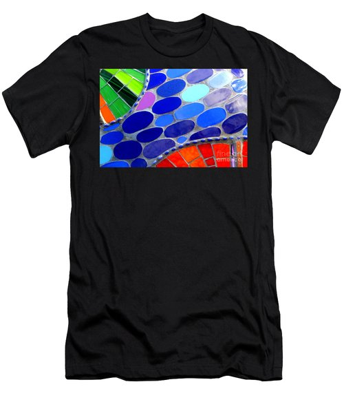 Mosaic Abstract Of The Blue Green Red Orange Stones Men's T-Shirt (Athletic Fit)
