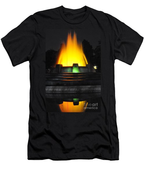 Mulholland Fountain Reflection Men's T-Shirt (Athletic Fit)