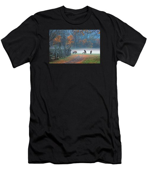 Oconaluftee Visitor Center Elk Men's T-Shirt (Athletic Fit)