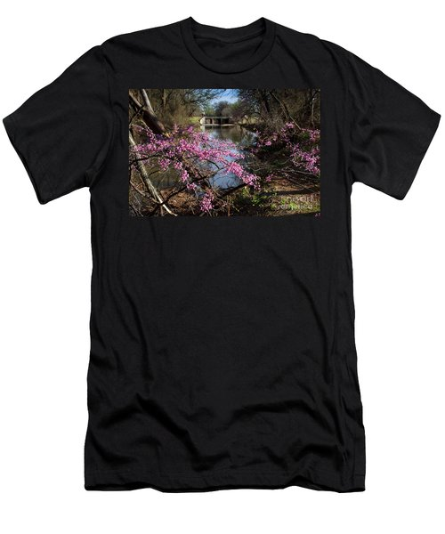 Redbuds And A Distant Bridge Men's T-Shirt (Athletic Fit)