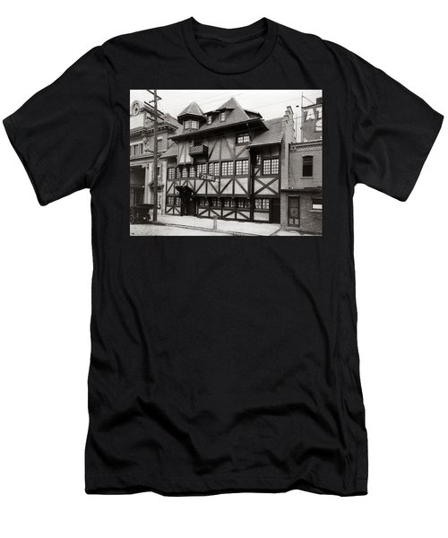 Scranton Pa Zenke's Alt Heidelberg Restaurant Early 1900s Men's T-Shirt (Athletic Fit)