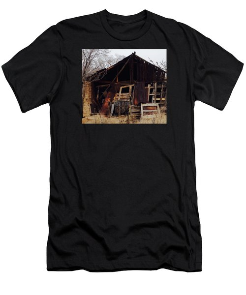 Men's T-Shirt (Slim Fit) featuring the photograph Barn by Erika Chamberlin