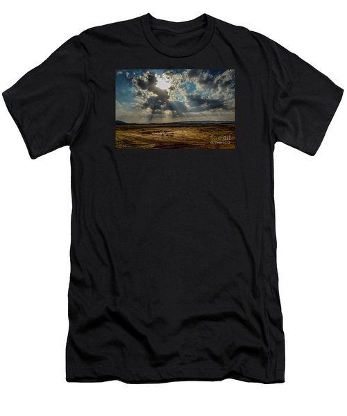 Men's T-Shirt (Slim Fit) featuring the photograph  Stormy  Light Rays  by Arik Baltinester