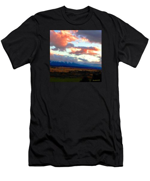 Sunset Clouds Over Spanish Peaks Men's T-Shirt (Athletic Fit)