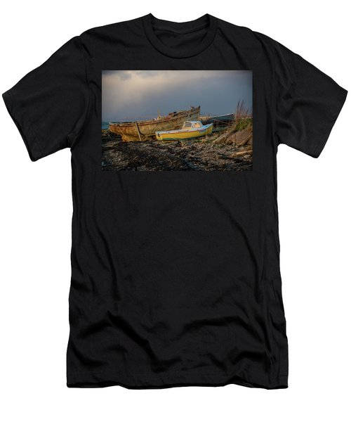 Sunset In The Highlands Men's T-Shirt (Slim Fit) by Terry Cosgrave