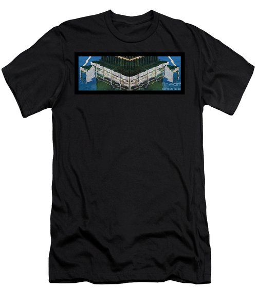 Men's T-Shirt (Slim Fit) featuring the photograph  Water Reflection Twofold by Heiko Koehrer-Wagner