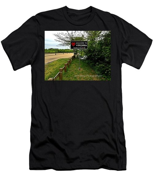 Men's T-Shirt (Slim Fit) featuring the digital art  Welcome To Virginia  - No.430 by Joe Finney