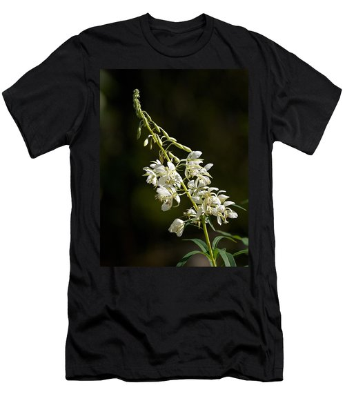 Men's T-Shirt (Slim Fit) featuring the photograph  White Fireweed by Jouko Lehto