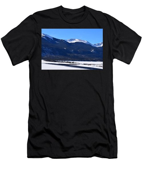 Men's T-Shirt (Athletic Fit) featuring the photograph Twin Lakes Leadville Co by Margarethe Binkley