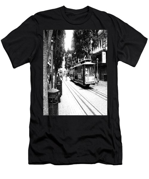 021016 San Francisco Trolly Men's T-Shirt (Slim Fit) by Garland Oldham