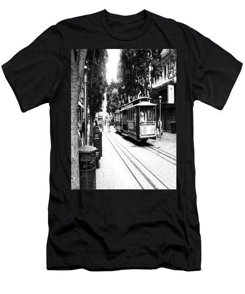021016 San Francisco Trolly Men's T-Shirt (Athletic Fit)