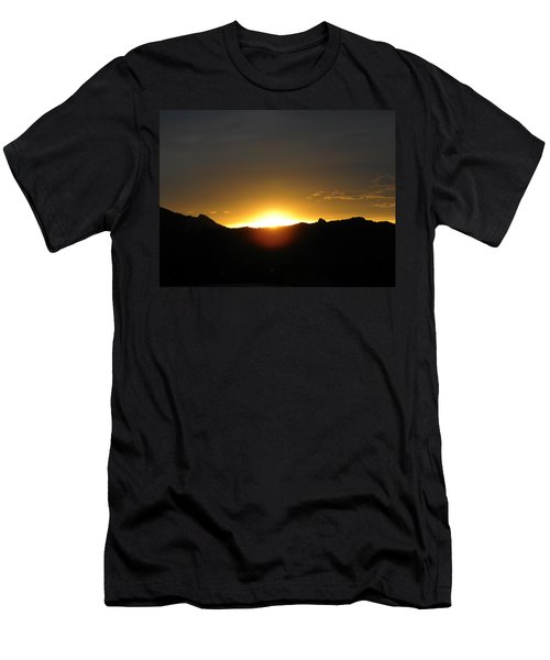 Men's T-Shirt (Athletic Fit) featuring the photograph Sunrise West Side Of Rmnp Co by Margarethe Binkley