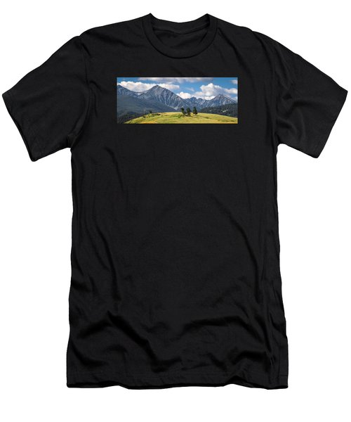 #0491 - Spanish Peaks, Southwest Montana Men's T-Shirt (Athletic Fit)