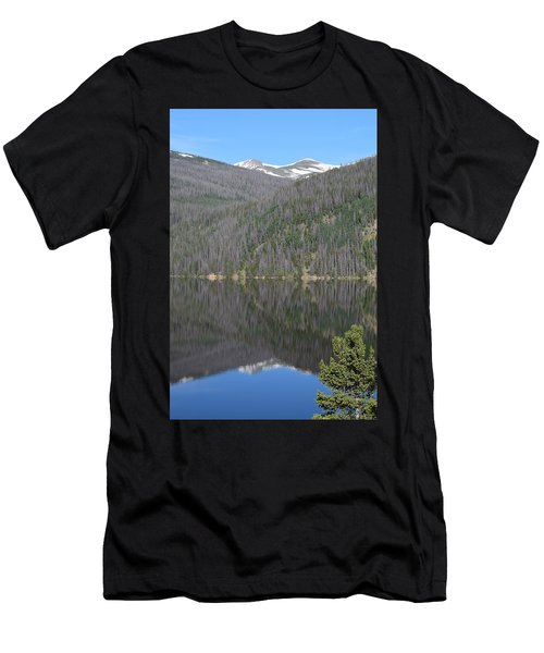 Men's T-Shirt (Athletic Fit) featuring the photograph Chambers Lake Reflection Hwy 14 Co by Margarethe Binkley