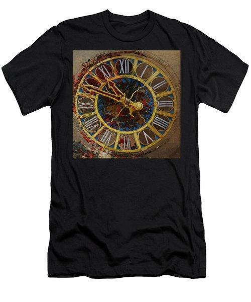 082 Tiffany Clock Men's T-Shirt (Athletic Fit)