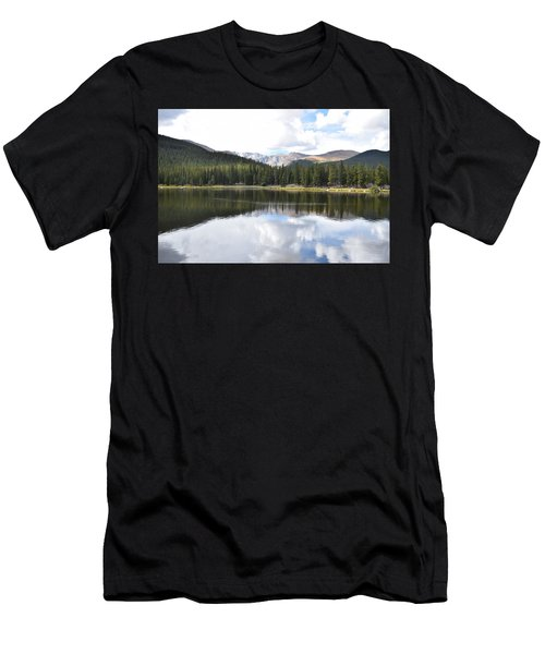 Men's T-Shirt (Athletic Fit) featuring the photograph Echo Lake Reflection Mnt Evans Co by Margarethe Binkley