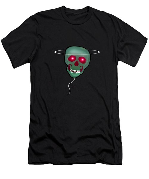 1279 - T Shirt Skull Men's T-Shirt (Slim Fit) by Irmgard Schoendorf Welch