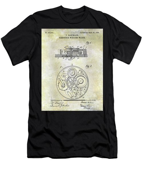 1908 Pocket Watch Patent  Men's T-Shirt (Athletic Fit)