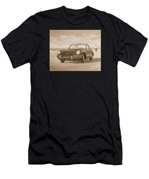 1967 Porsche 912 In Sepia Men's T-Shirt (Athletic Fit)