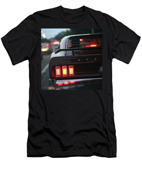Men's T-Shirt (Slim Fit) featuring the photograph 1969 Ford Mustang Mach 1 by Gordon Dean II