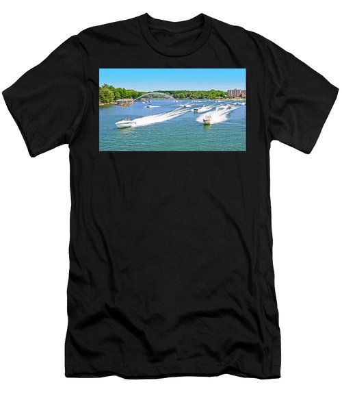 2017 Poker Run, Smith Mountain Lake, Virginia Men's T-Shirt (Athletic Fit)