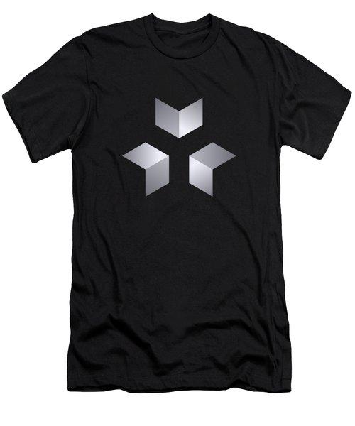 3 Cubes Men's T-Shirt (Athletic Fit)