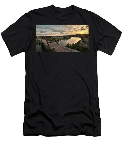 360 Bridge Sunset Men's T-Shirt (Athletic Fit)