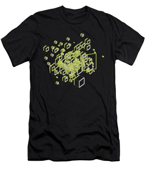 3d Futuristic Bg IIi Men's T-Shirt (Athletic Fit)