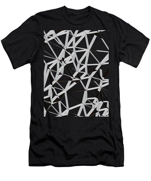 3d Futuristic Geo Lines Men's T-Shirt (Athletic Fit)