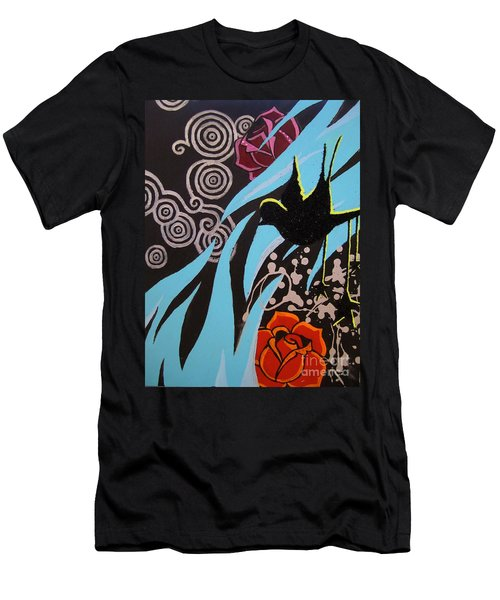 Men's T-Shirt (Slim Fit) featuring the painting A Beautiful Flight by Ashley Price