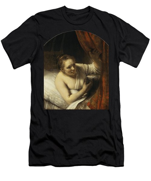 A Woman In Bed Men's T-Shirt (Athletic Fit)