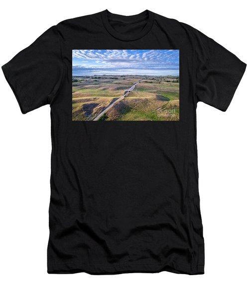aerial view of Nebraska Sandhills  Men's T-Shirt (Athletic Fit)