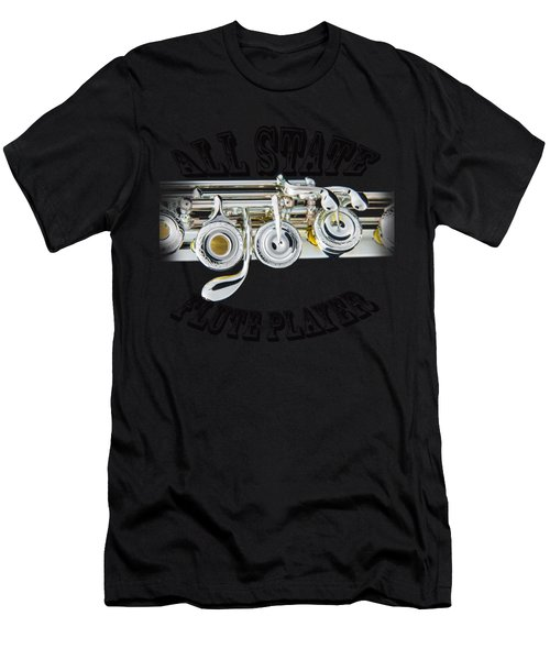 All State Flute Player Men's T-Shirt (Athletic Fit)