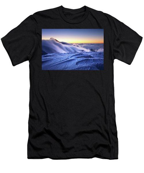 Amazing Foggy Sunset At Mountain Peak In Mala Fatra, Slovakia Men's T-Shirt (Athletic Fit)