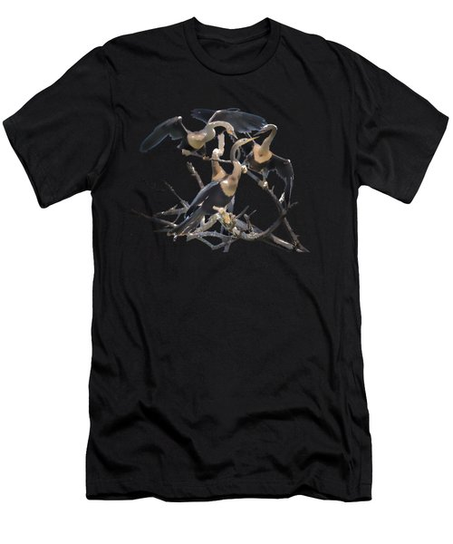 Anhinga Feeding Time Transparency Men's T-Shirt (Athletic Fit)