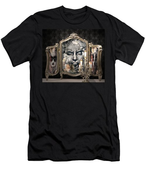 Antique Vampire Paintings Men's T-Shirt (Athletic Fit)