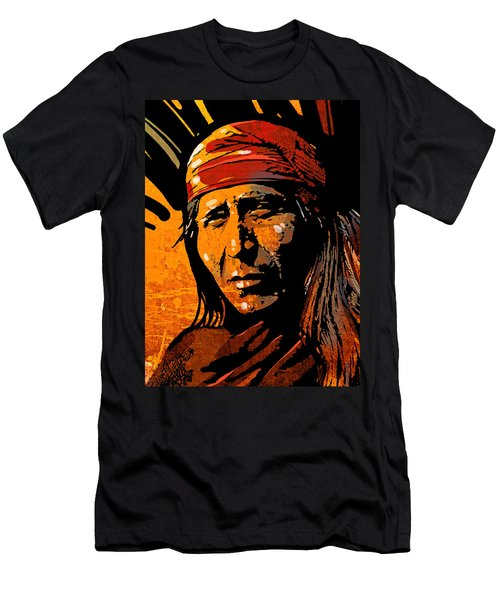 Apache Warrior Men's T-Shirt (Athletic Fit)