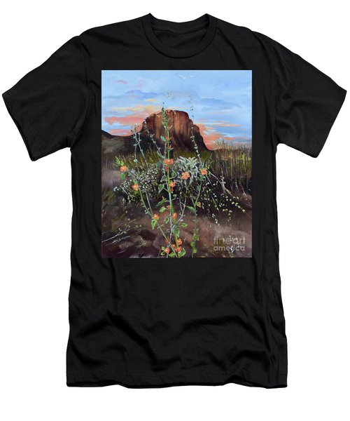 Arizona Desert Flowers-dwarf Indian Mallow Men's T-Shirt (Athletic Fit)