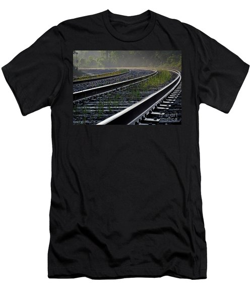 Men's T-Shirt (Slim Fit) featuring the photograph Around The Bend by Douglas Stucky