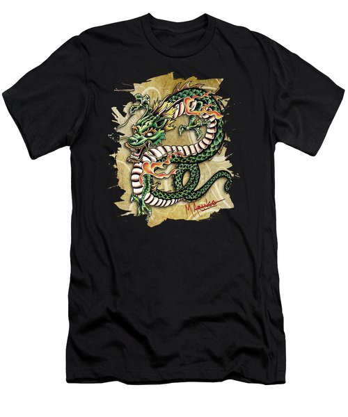 Asian Dragon Men's T-Shirt (Athletic Fit)