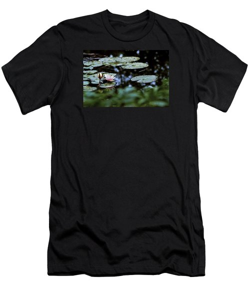 Men's T-Shirt (Slim Fit) featuring the photograph At Claude Monet's Water Garden 6 by Dubi Roman