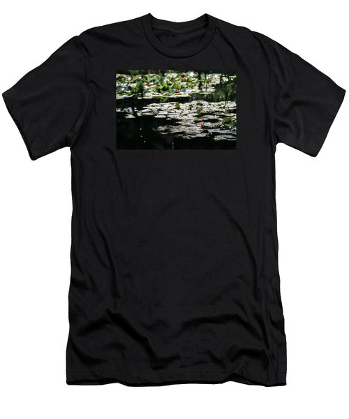 Men's T-Shirt (Slim Fit) featuring the photograph At Claude Monet's Water Garden 7 by Dubi Roman